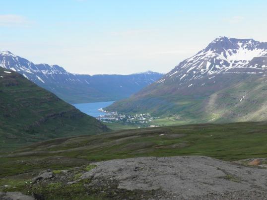 The first view of Seyðisfjörður