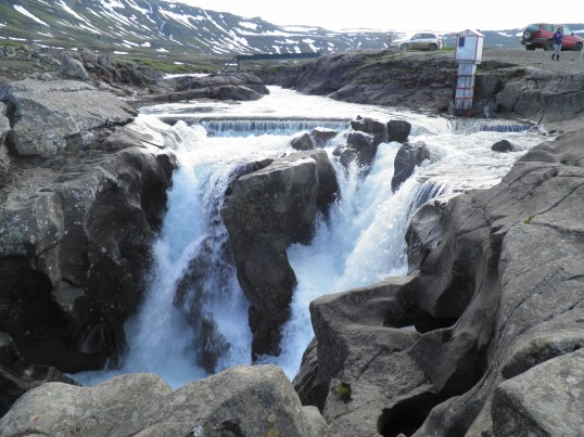 The top section of Gufufoss