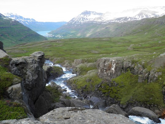 River leading the way to Seyðisfjörður