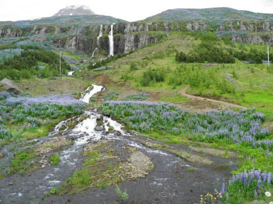 Waterfall in Seyðisfjörður