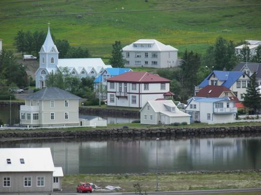Looking down on Seyðisfjörður