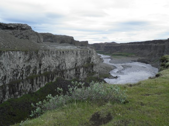 Canyon downstream from Dettifoss