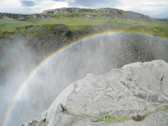 Rainbow below the western viewpoint