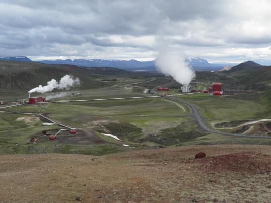 Geothermal power plant in Krafla valley