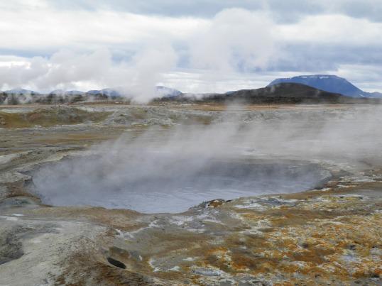 Steaming ground at Hverir