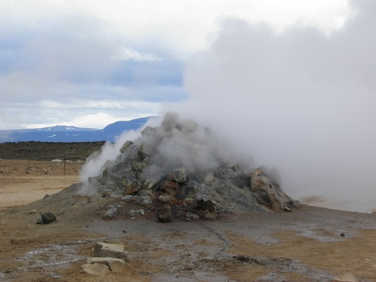 Steaming chimney at Hverir