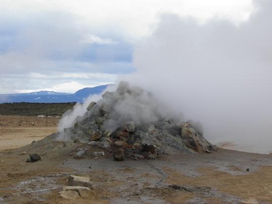 Steaming chimney at Hverir