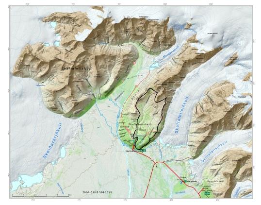 Image source: www.vatnajokulsthjodgardur.is THE LOOP TRACK IS HIGHLIGHTED IN BLACK