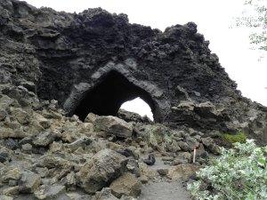 Lava cave at Dimmuborgur