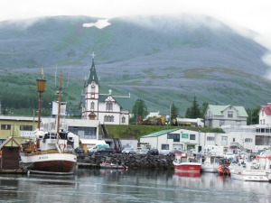 Husavik from the harbour