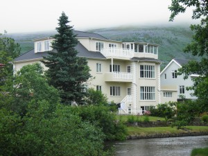 House by the river in Husavik