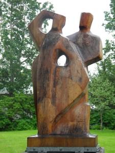 Statue in Husavik park