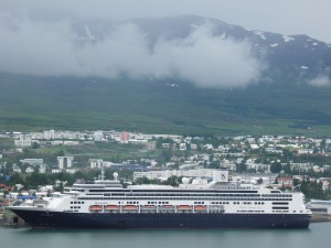 Cruise ship in Akureyri