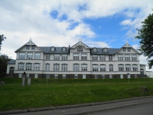 Building near Akureyri botanical gardens