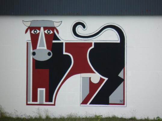 Mural in Borgarnes