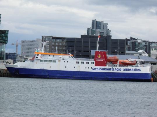 Ferry in Reykjavik harbour