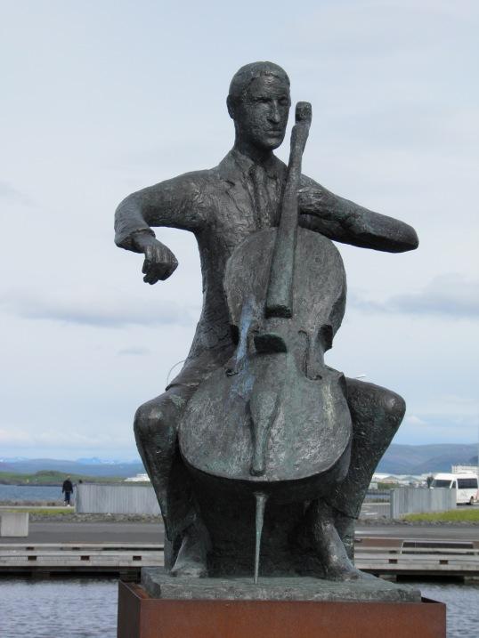 Statue outside Harpa
