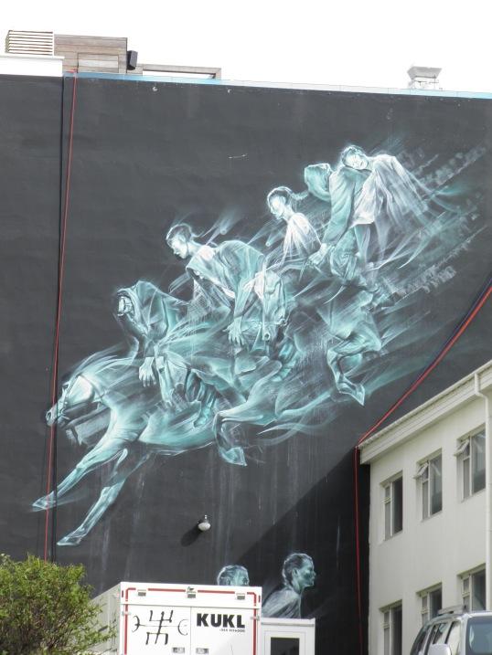 Mural in Reykjavik