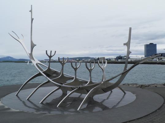 Ship sculpture on the promenade