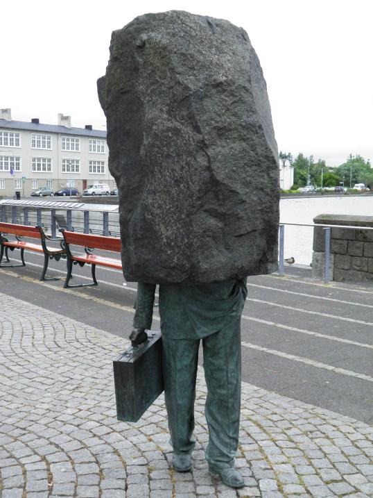 Sculpture at Tjornin