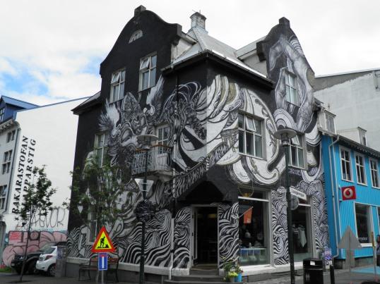 House facade in Reykjavik