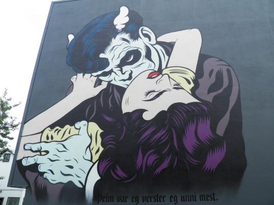 Vampire mural in Reykjavik