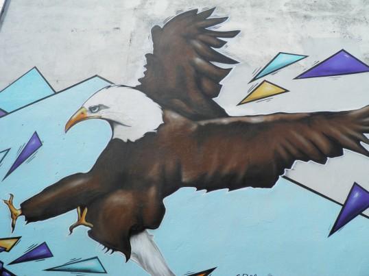 Eagle mural in Reykjavik