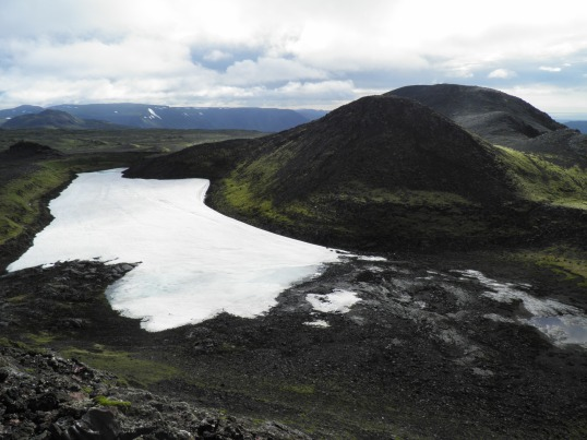 Snow amongst the lava