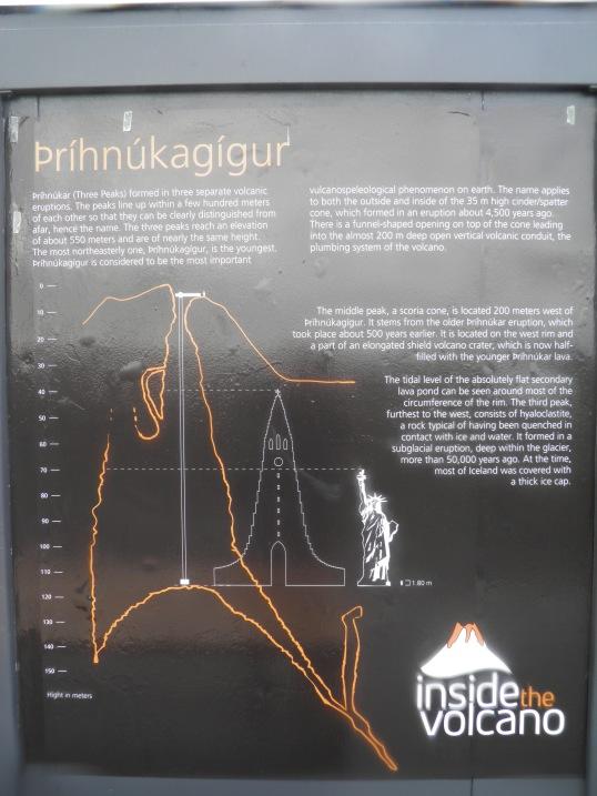 Info board at the cabin