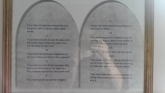 The Ten Commandments at Kip in the Kirk
