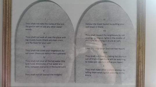 The Ten Commandments at Kip in the Kirk