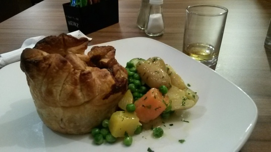 Steak pie at Winnoch in Drymen