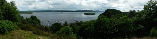 Loch Lomond panorama from Craigie Fort