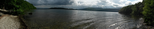 Loch Lomond shoreline panorama