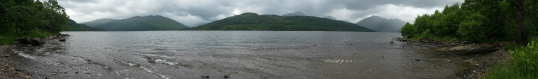 Loch Lomond beach panorama