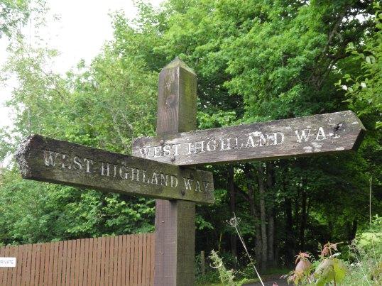 Signage near Mugdock Woods