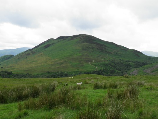 The West Highland Way snakes up Conic Hill