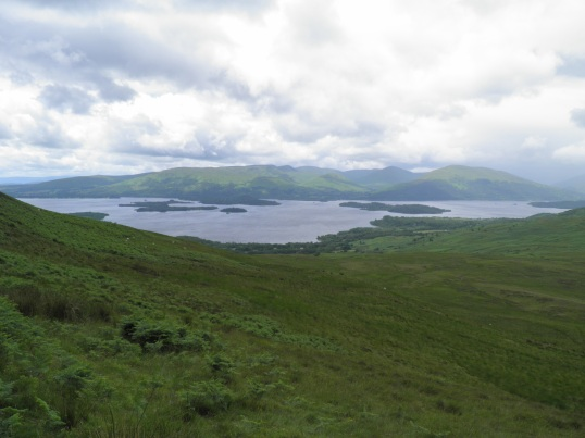 Loch Lomond visible on the climb up Conic Hill