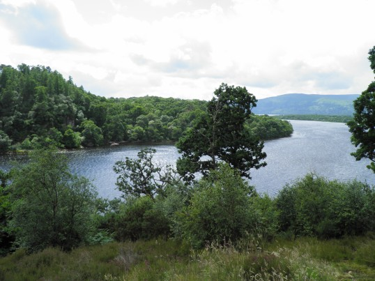 Inchcailloch island on Loch Lomond
