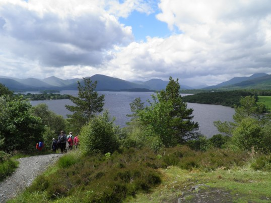 Looking up the length of Loch Lomond