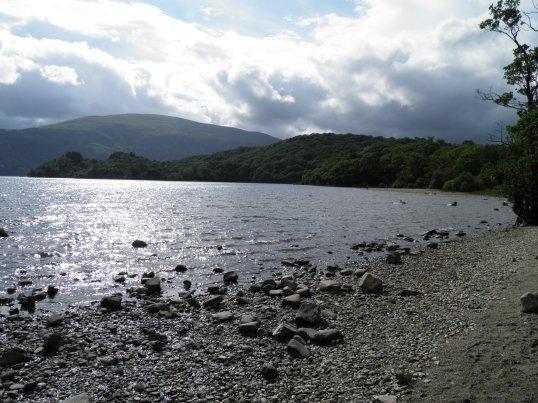 Pebbly beach at Loch Lomond