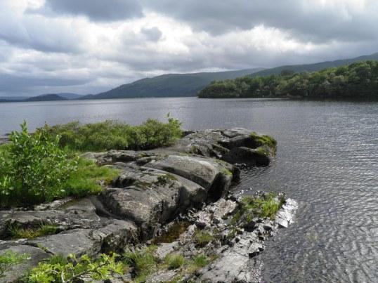 Loch Lomond's rocky shore