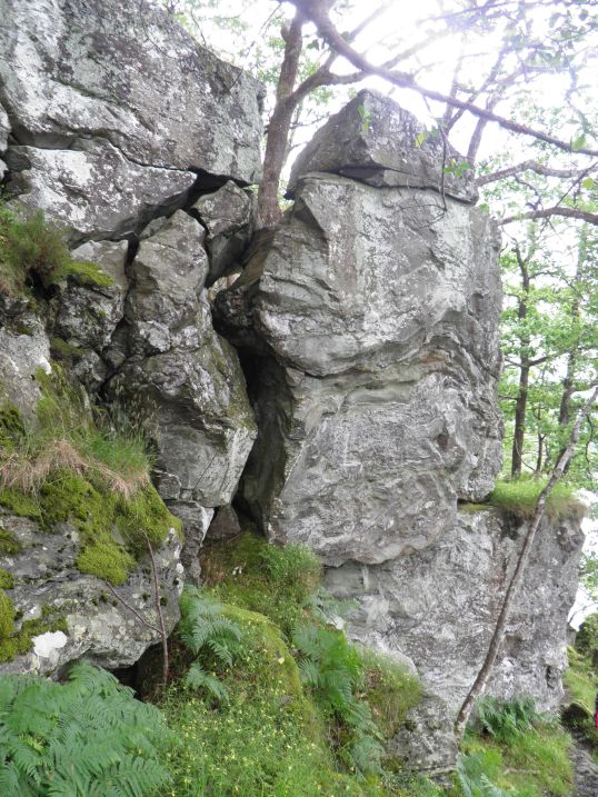 Large rocky outcrop by the WHW