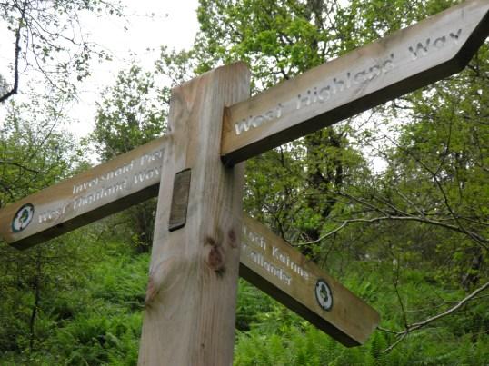 Way marker near Inversnaid