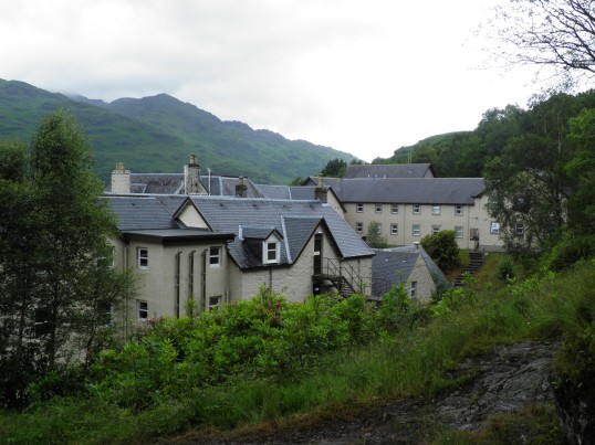 Inversnaid hotel coming into view