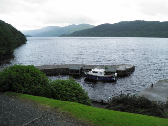 Inversnaid jetty on Loch Lomond
