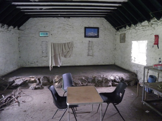 Sleeping area of the bothy