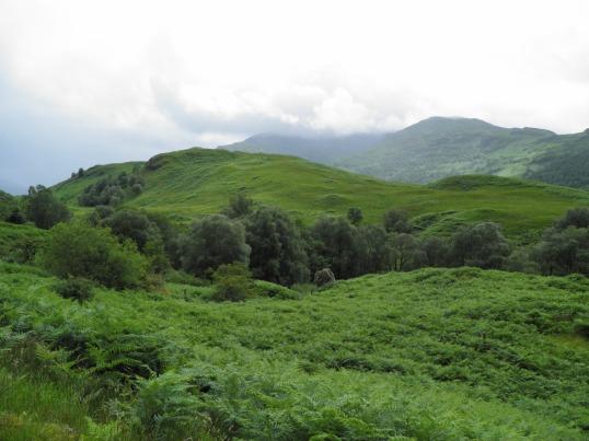 Hiking through Glen Falloch