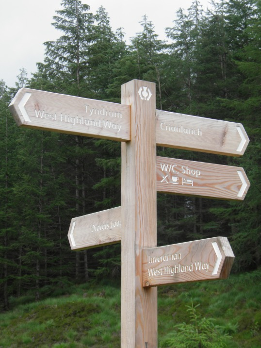Walker's crossroads at Crianlarich