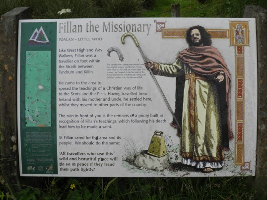 Information board at St Fillans